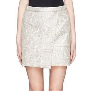 J. Crew Champagne/Gold Origami Mini Skirt